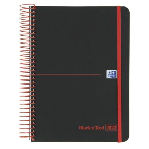 AGENDA OXFORD BLACK AND RED 15X21 DIA PAGINA